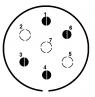 Sedmikolíková zástrčka automobilu (nové značení)