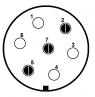 Semikolíková zástrčka vozíku (nové značení)