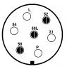 Sedmikolíková zástrčka automobilu (staré značení)